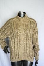 Womans ST JOHN Gorgeous Gold & White Knit Wool Sweater Size L