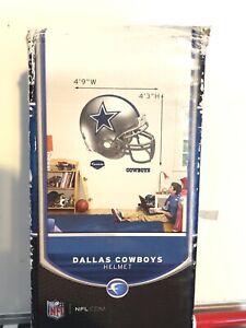 """Dallas Cowboys Fathead Football Helmet  4' 9""""  W X 4' 3"""" H Wall Decal New"""