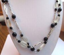 Type brillant Collier de Perles poli Imitation 132 cm long Couleur Au choix