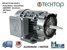 1 HP, Electric Motor, PUMP, 1800 RPM, 56J, 3-Phase, NEMA Premium