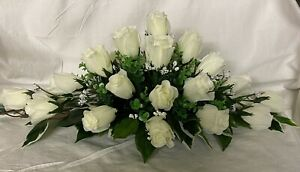 gorgeous wedding flowers top table decoration ivory roses gyp many cols