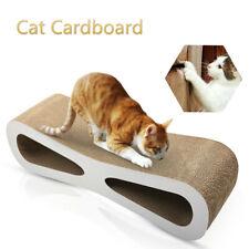New listing Cat Scratch Cardboard Catnip Scratching Pad Scratcher Lounge Sofa Bed Post