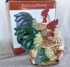 NEW FITZ & FLOYD MEDITERRANEO ROOSTER MEDITERREAN Vegetable bowl Cookie Jar Lid