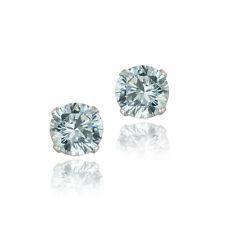 2.10ct Blue Topaz 925 Sterling Silver Stud Earrings 6mm