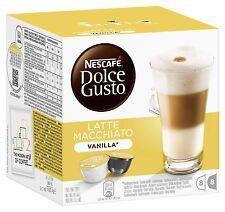 Dolce Gusto Latte Machiato Vainilla Coffe (3 Cajas, Total 48 cápsulas) 24 porciones