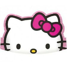 HELLO KITTY RAINBOW FAVOURS CARDBOARD TIARAS HATS (PACK OF 8) BIRTHDAY PARTY