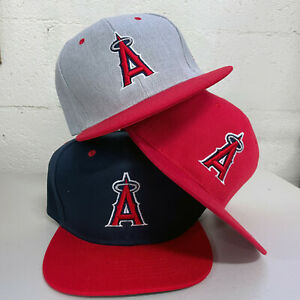 Los Angeles Angels Snap Back Cap Hat Embroidered Adjustable Flat Bill Anaheim LA