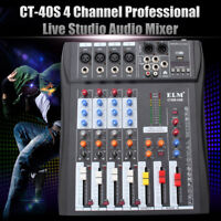 4 Channel USB Professional Live Studio Audio Mixer Phantom MP3 Mixing Console