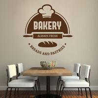 Bakery Cake Shop Fresh Bread Pastries Vinyl Wall Sticker Decal Kitchen Window
