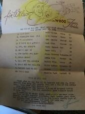 1954 Radio Station WHOO Country Music Survey Chart