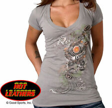 Live Love Ride Design Ladies Silver Full Cut Shirt 1109