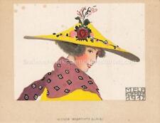 Wiener Werkstätte Werkstaette Tischkarte Nr.: 1662B Mela Koehler um 1910