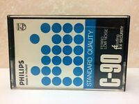 PHILIPS STANDARD QUALITY C-90 BLANK AUDIO CASSETTE TAPE NEW RARE 1975 YEAR MADE