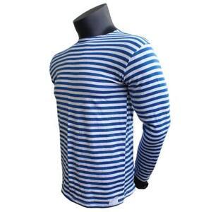Original new Russian telnyashka longsleeve shirt blue all sizes