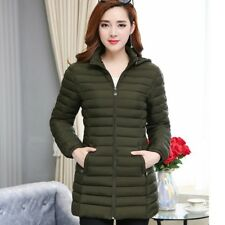 Lady Puffer Coat Jacket Fitted Hooded Warmer Padded Outwear Casual Oversize New