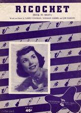 Ricochet, Theresa Brewer Photo,  Vintage Sheet Music 1953