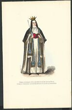 Lamina Grabado antiguo Monja de la Cartuja santino holy card