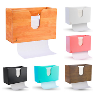 Yosooo Wall Mount Bathroom Paper Roll Hand Towel Dispenser for Home Commercial Use