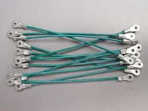 Lot of 12 E1210-#4 6-in Hood Pin Lanyards / Cables NEW