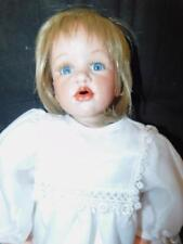 """Bell Ceramics Porcelain Doll # Mm5104 By Theresa 25"""" Tall"""