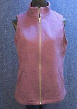 Coldwater Creek Women's NWOT Purple Medium Zipper Front Vest