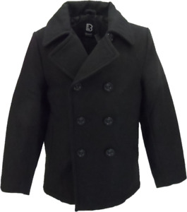 Mens Men's Wool Retro Pea Coat