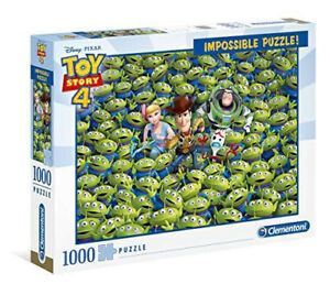 Clementoni Puzzle 1000pc - Disney Toy Story 4 Impossible Puzzle!