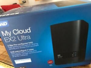 WD My Cloud EX2 Ultra 2-Bay NAS 4TB - 1x Gigabit LAN, 2x USB 3.0 - Schwarz