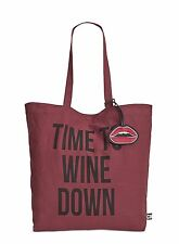 New Circus Sam Edelman Canvas Tote Bag Time To Wine Down Rose All Day Winery Nwt