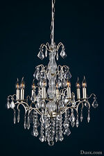 DUSX Charlotte Crystal Glass French Silver 8 Arm Chandelier W62 x D62 x H75 cm