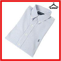 Polo Golf Ralph Lauren Mens Custom Fit Shirt L Large Cotton Striped Poplin Long