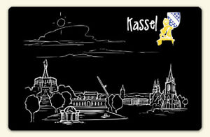 "Kühlschrankmagnet ""Skyline Kassel"""