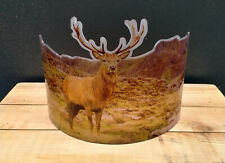 More details for stag deer shabby chic vintage antique curved simulated glass style suncatcher