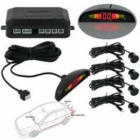 Auto Backup LCD Display 4 Parking Sensors Alarm Kit Car Reverse Radar System