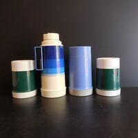 4 bouteilles isothermes THERMOS vintage art déco design original USA N4304