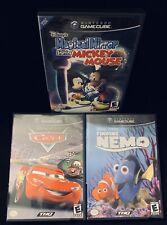 Disney Pixar Lot (Magical Mirror, Cars, & Finding Nemo) For Nintendo GameCube