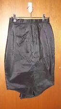 MINT Vintage Sally Browne black fishtail SILK corture cocktail Skirt SZ XS S 6 8