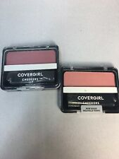 (2) 109 Peach Gilt and 185 True Plum CoverGirl Cheekers Blush