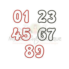 BIRTHDAY NUMBERS APPLIQUE MACHINE EMBROIDERY DESIGNS - 8 Sizes - IMP1951
