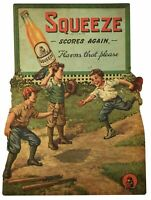 SQUEEZE SCORES AGAIN BASEBALL GAME SODA POP HEAVY DUTY USA MADE METAL ADV SIGN