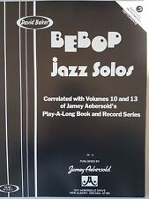 David Baker Bebop Jazz Solos: Bass Clef Instruments