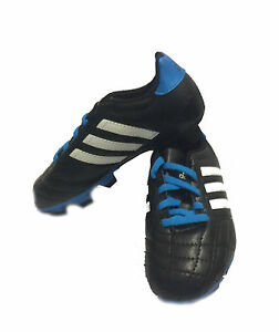 NEW Adidas Goletto Boys TRX FG Kids Football Boots Black White Moulded Studs