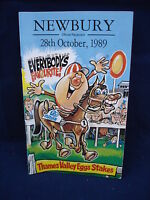 Horse racing - Race Card - Newbury- 28th October 1989 - Thames Valley Eggs stake
