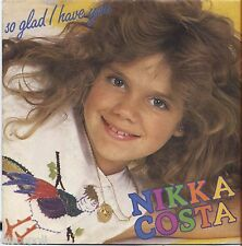 "NIKKA COSTA - So glad i have you - VINYL 7"" 45 ITALY 1982 MINT COVER MINT"