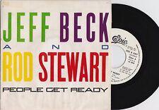 "JEFF BECK & ROD STEWART - People Get Ready - Ultra-Rare 1985 Spanish 7"" single"