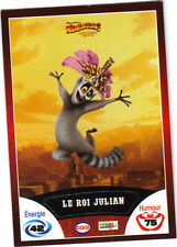 Vignette de collection autocollante CORA Madagascar 3 n° 32/90 - Le roi Julian