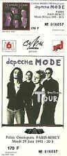 RARE / TICKET DE CONCERT - DEPECHE MODE A PARIS BERCY 29 JUIN 1993 / COMME NEUF