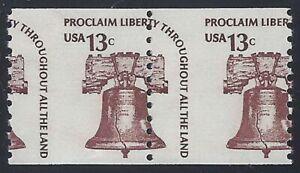 """1618 - 13c Misperf Error / EFO Pair """"Liberty Bell"""" Mint NH (Stk15)"""