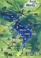 .Mecklenburg-Vorpommern Landkarte: Müritz Waren Ludorf Mirow Klink 2000