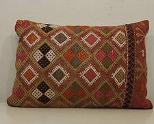 16x24 Organic wool pillow cover tribal pillow cover kilim pillow pink pillows